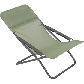 Lafuma Mobilier Transabed Sun Lounger with Cannage Phifertex moss